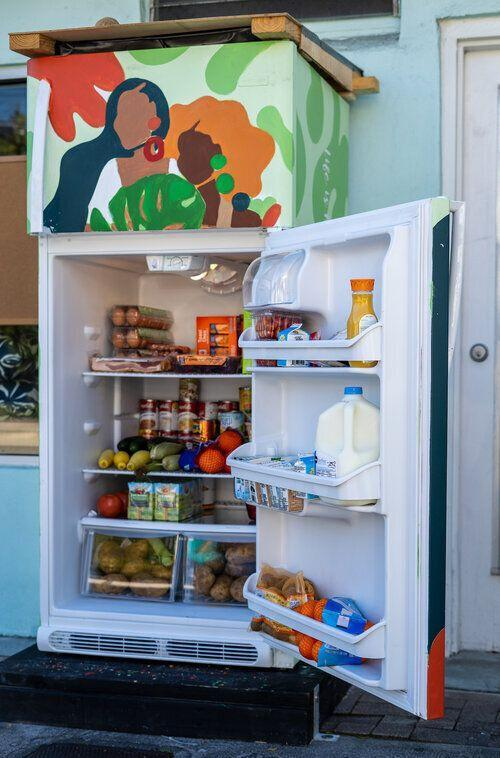 A refrigerator in Buddy System MIA's Coconut Grove location. (Photo: Courtesy of the Author)
