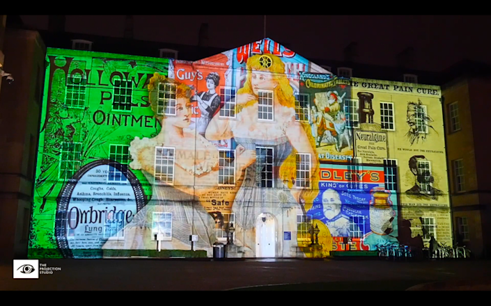 "<span class=""caption"">Sally Shuttleworth and the Diseases of Modern Life team worked with the Projection Studio to create a light and sound projection onto the Radcliffe Humanities Building in Oxford, November 2018.</span> <span class=""attribution""><span class=""source"">© Projection Studio</span>, <span class=""license"">Author provided</span></span>"