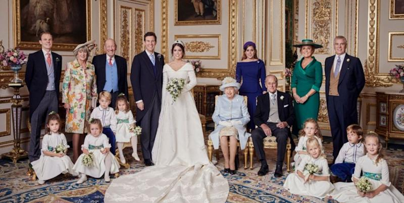 The major difference in Princess Eugenie's royal wedding reception evening dress