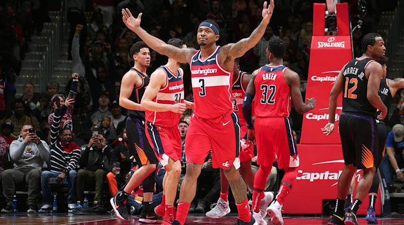0bee2e0b45ca Three at 3  Beal Has Wizards Rolling