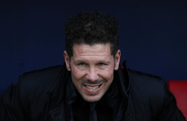Soccer Football - La Liga Santander - Atletico Madrid vs Girona - Wanda Metropolitano, Madrid, Spain - January 20, 2018 Atletico Madrid coach Diego Simeone before the match REUTERS/Sergio Perez