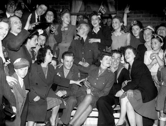 VE Day celebrations in the East End of London, 8 May 1945 (PA/PA Wire)