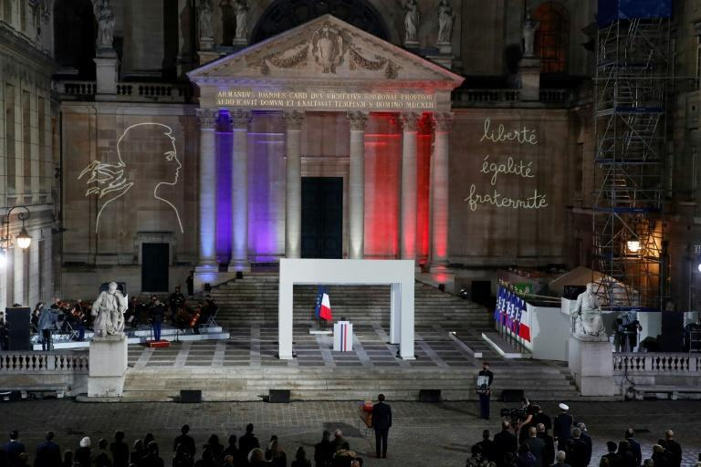French leaders paid their respects to the slain teacher