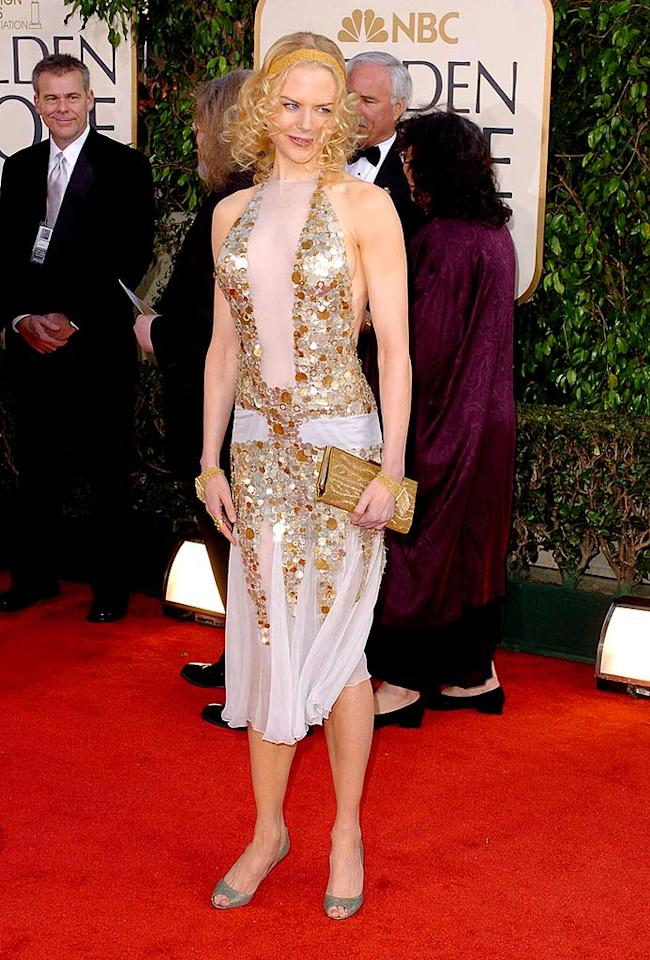 """Nicole Kidman definitely stood out in a flapper-inspired Yves Saint Laurent dress from 2004, but not necessarily in a good way. Steve Granitz/<a href=""""http://www.wireimage.com"""" target=""""new"""">WireImage.com</a> - January 25, 2004"""