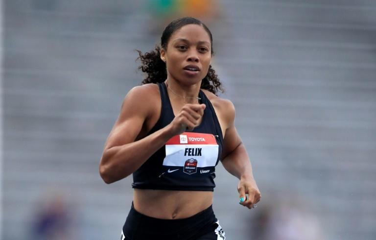 Allyson Felix was named to her ninth consecutive US team for the World Championships on Monday (AFP Photo/ANDY LYONS)