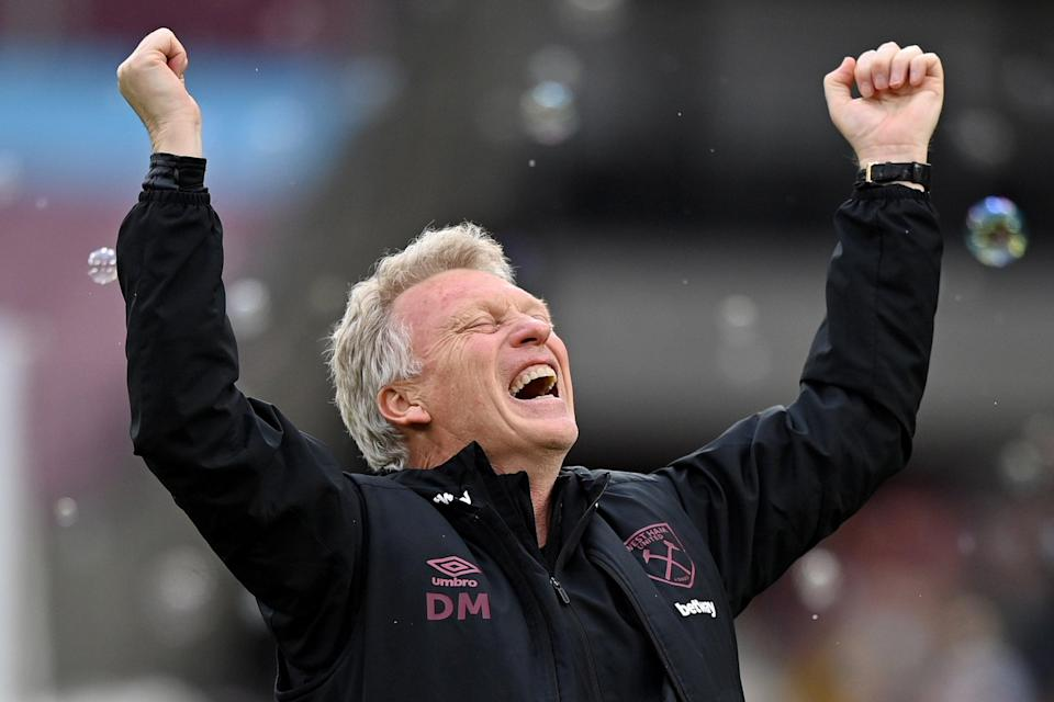 David Moyes led West Ham to qualification for next season's Europa League (Getty Images)