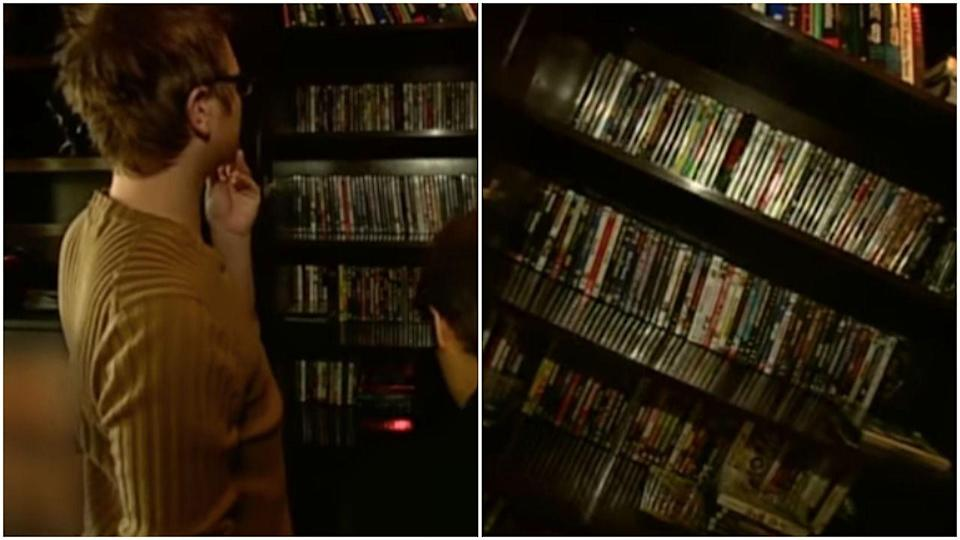 <p>Poor Devon Sawa was genuinely so proud to show off his DVD collection. Bless.</p>