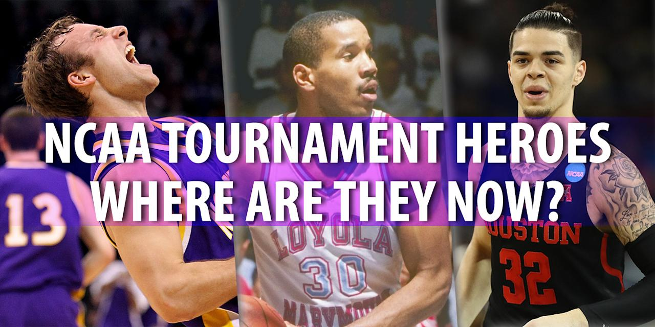 <p>There are certain players who will always be associated with March Madness. Some went on to NBA careers – and you already know where they are – while others are toiling overseas or even have regular jobs like the rest of us. But we'll always have the memories they gave us in March. (Ali Farokmanesh, Bo Kimble, Rob Gray) </p>