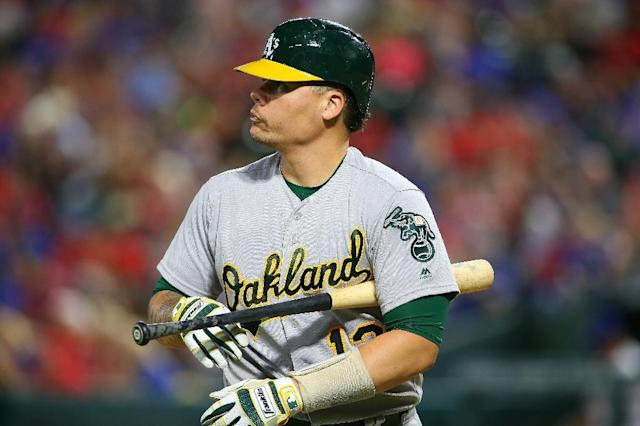 "<a class=""link rapid-noclick-resp"" href=""/mlb/teams/oak/"" data-ylk=""slk:Oakland Athletics"">Oakland Athletics</a> catcher Bruce Maxwell has been indicted by an Arizona grand jury. (AP)"