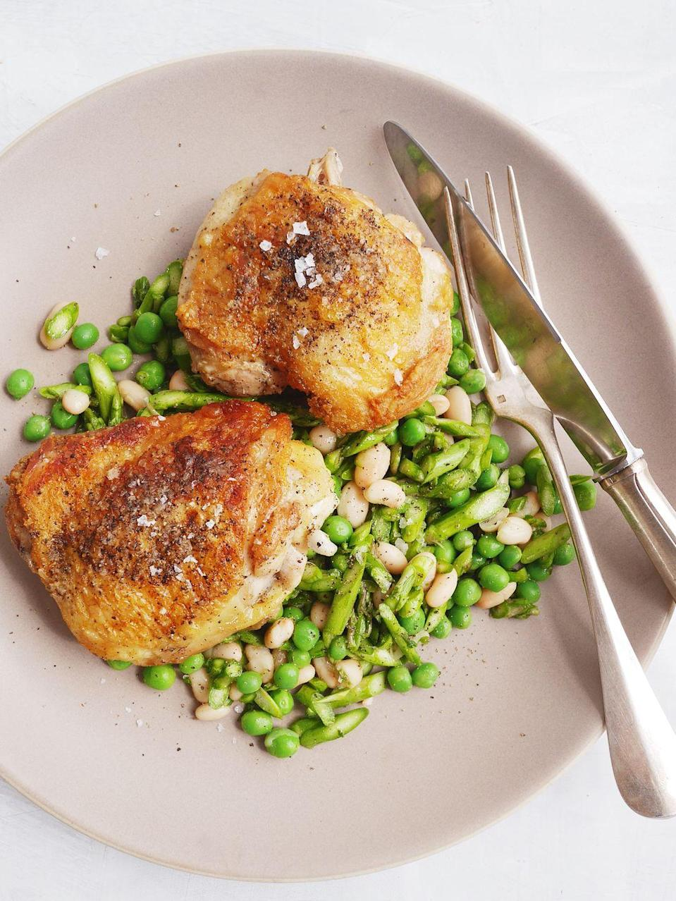 "<p>Spring produce is here and we're all about it.</p><p>Get the recipe from <a href=""https://www.delish.com/cooking/recipe-ideas/recipes/a54115/garlicky-greek-chicken-recipe/"" rel=""nofollow noopener"" target=""_blank"" data-ylk=""slk:Delish"" class=""link rapid-noclick-resp"">Delish</a>.</p>"