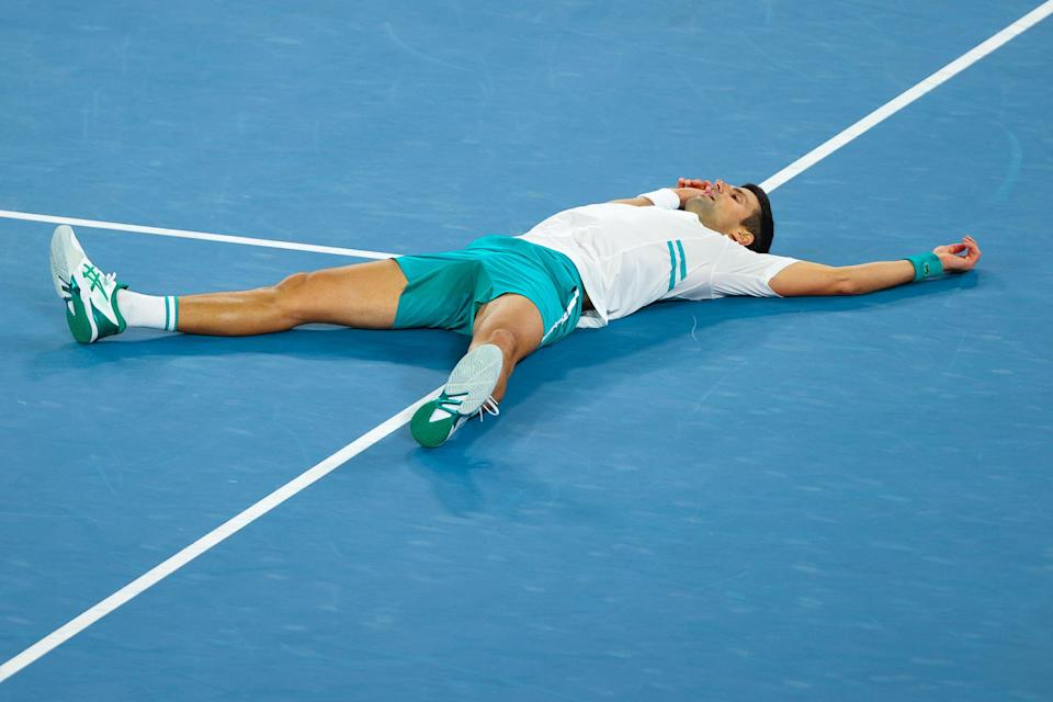 Athletes such as tennis star Novak Djokovic will face a number of risks this year at the 2021 Olympics in Tokyo stemming from the climate crisis. (AFP via Getty Images)