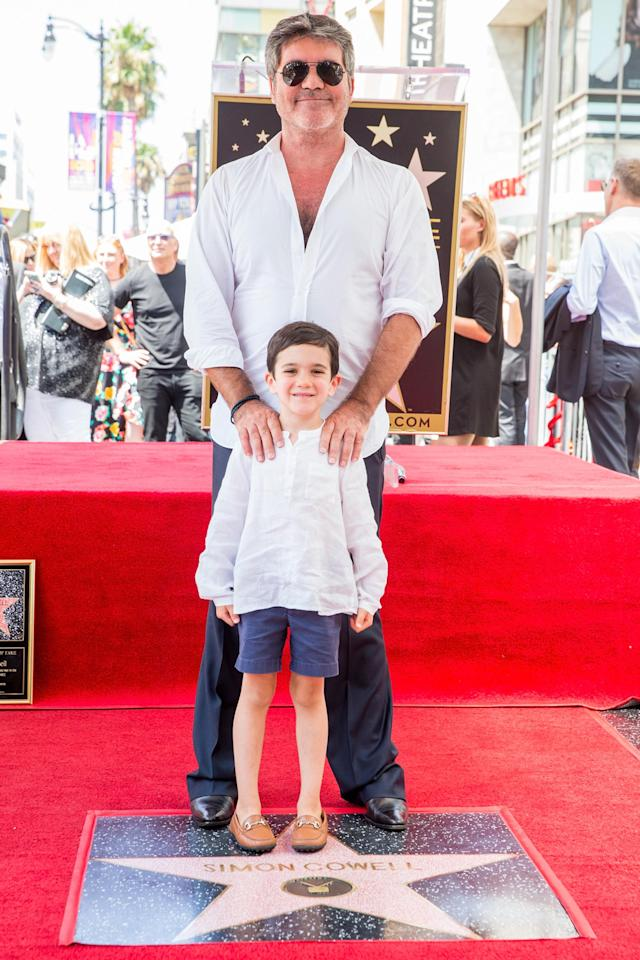 Simon Cowell And Family Get Matchy Matchy For Hollywood Walk Of Fame Star Ceremony