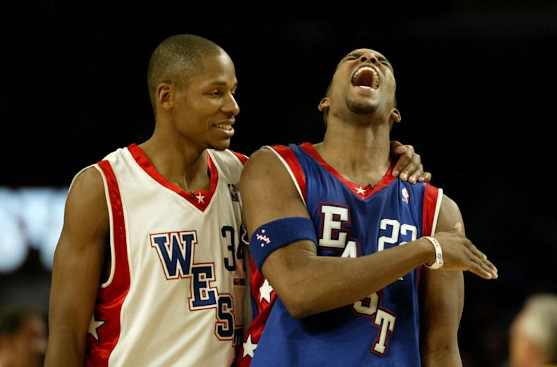 Ray Allen and Michael Redd played opposite each other in the 2004 NBA All-Star Game. (Getty Images)