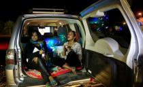 Sudanese watch films from their cars during festival