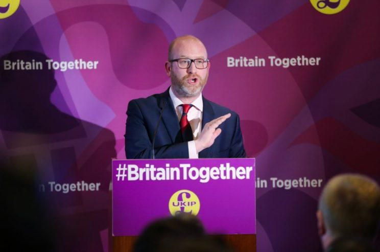 UKIP leader Paul Nuttall was eventually able to say his piece (Rex)