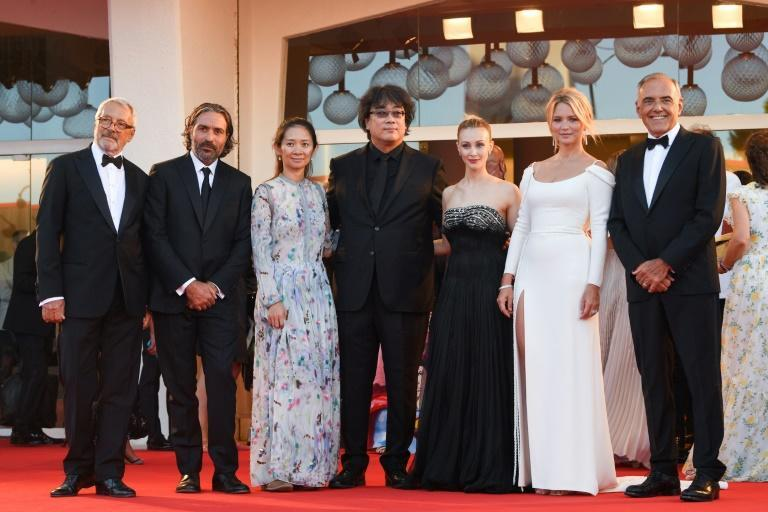 This year's jury includes last year's winner Chloe Zhao and actress Virginie Efira. (AFP/Filippo MONTEFORTE)