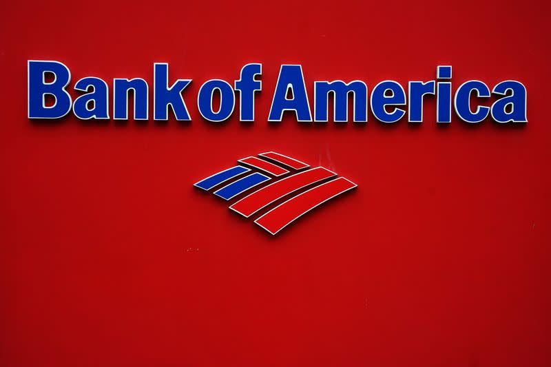 A Bank of America logo is pictured in the Manhattan borough of New York City