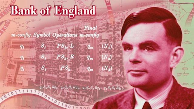 Alan Turing, legendary mathematician and WWII codebreaker, honored on new 50 pound note (ABC News)