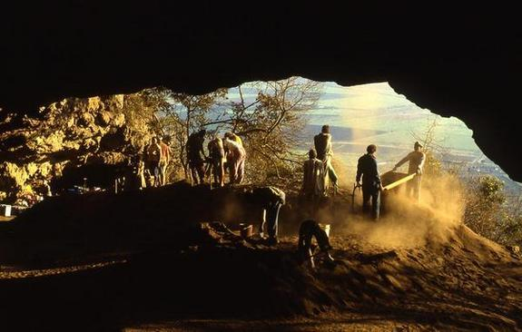Border Cave in South Africa was occupied by humans for tens of thousands of years.