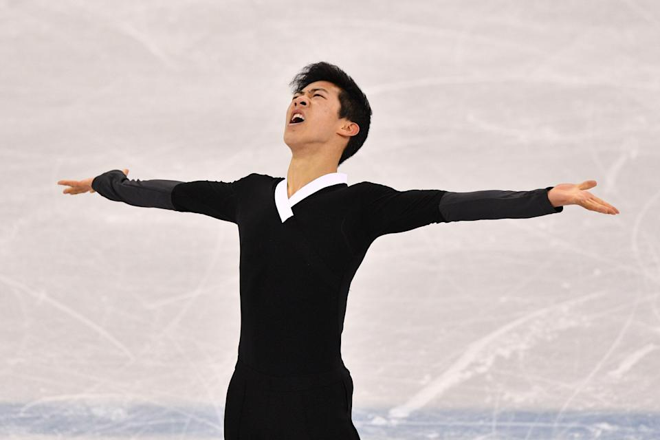 Nathan Chen attempted six quadruple jumps in his free skate program at the 2018 Winter Olympics. (Getty Images)