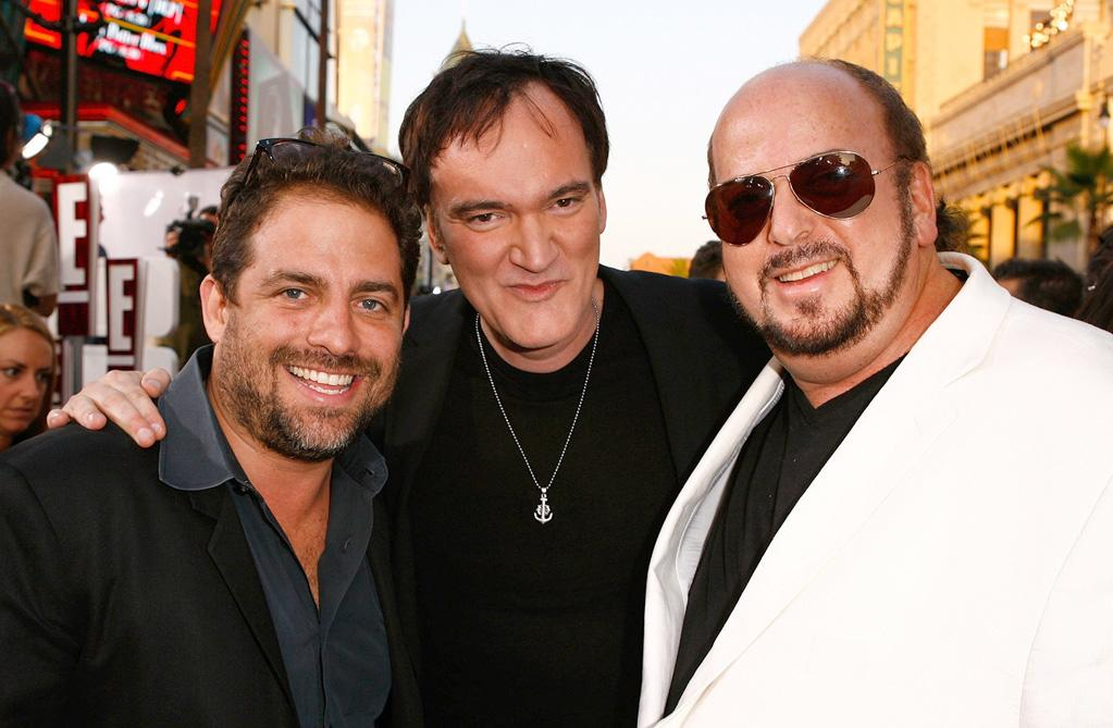 """<a href=""""http://movies.yahoo.com/movie/contributor/1800024303"""">Brett Ratner</a>, <a href=""""http://movies.yahoo.com/movie/contributor/1800021942"""">Quentin Tarantino</a> and <a href=""""http://movies.yahoo.com/movie/contributor/1800019787"""">James Toback</a> at the Los Angeles premiere of <a href=""""http://movies.yahoo.com/movie/1808404206/info"""">Inglourious Basterds</a> - 08/10/2009"""