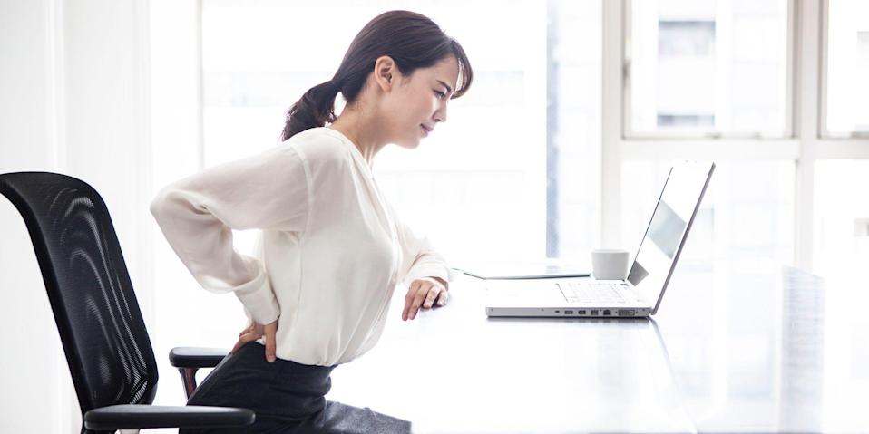 lower back pain sitting office work from home