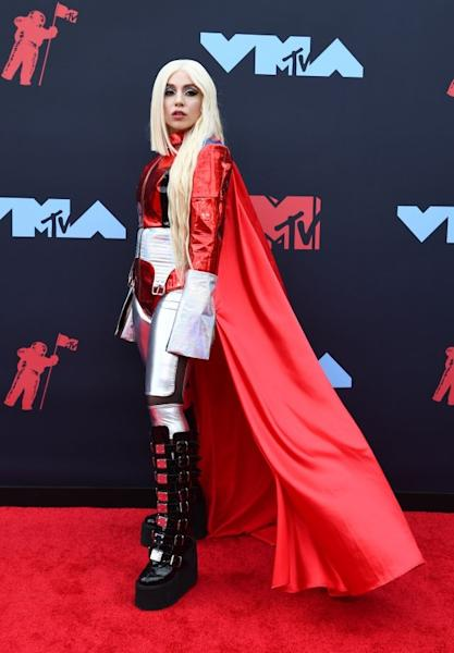Ava Max brought the superhero vibe to the MTV Video Music Awards, with a red and silver out. She also garnered attention for her asymmetrical haircut, short on one side, long on the other. Newark, August 26, 2019