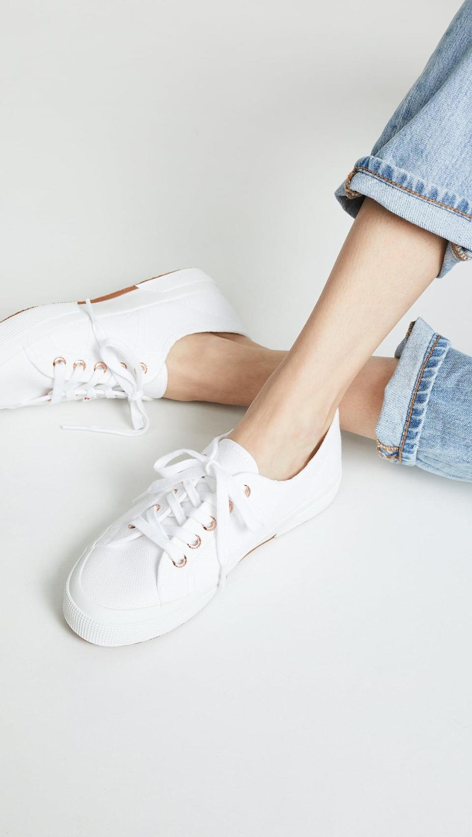 "<p><a href=""https://www.popsugar.com/buy/Superga-2750-Cotu-Classic-Sneakers-520427?p_name=Superga%202750%20Cotu%20Classic%20Sneakers&retailer=shopbop.com&pid=520427&price=65&evar1=fab%3Aus&evar9=44311634&evar98=https%3A%2F%2Fwww.popsugar.com%2Ffashion%2Fphoto-gallery%2F44311634%2Fimage%2F46921958%2FSuperga-2750-Cotu-Classic-Sneakers&list1=shopping%2Cshoes%2Csneakers%2Choliday%2Cgift%20guide%2Ceditors%20pick%2Cfashion%20gifts%2Cgifts%20for%20women&prop13=api&pdata=1"" class=""link rapid-noclick-resp"" rel=""nofollow noopener"" target=""_blank"" data-ylk=""slk:Superga 2750 Cotu Classic Sneakers"">Superga 2750 Cotu Classic Sneakers </a> ($65)</p> <p>""I love a good white leather sneaker, but a canvas pair is always good to have on hand too. Not only are they supereasy to travel with, but they're easy to throw in the washing machine and clean, so you'll own them forever."" - Krista Jones, associate editor, Shop</p>"