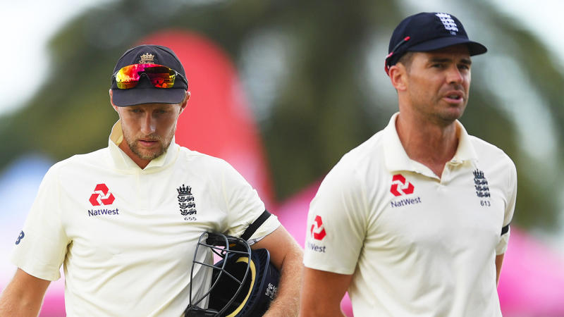 James Anderson (pictured right) has been ruled out of the second Ashes Test. (Getty Images)