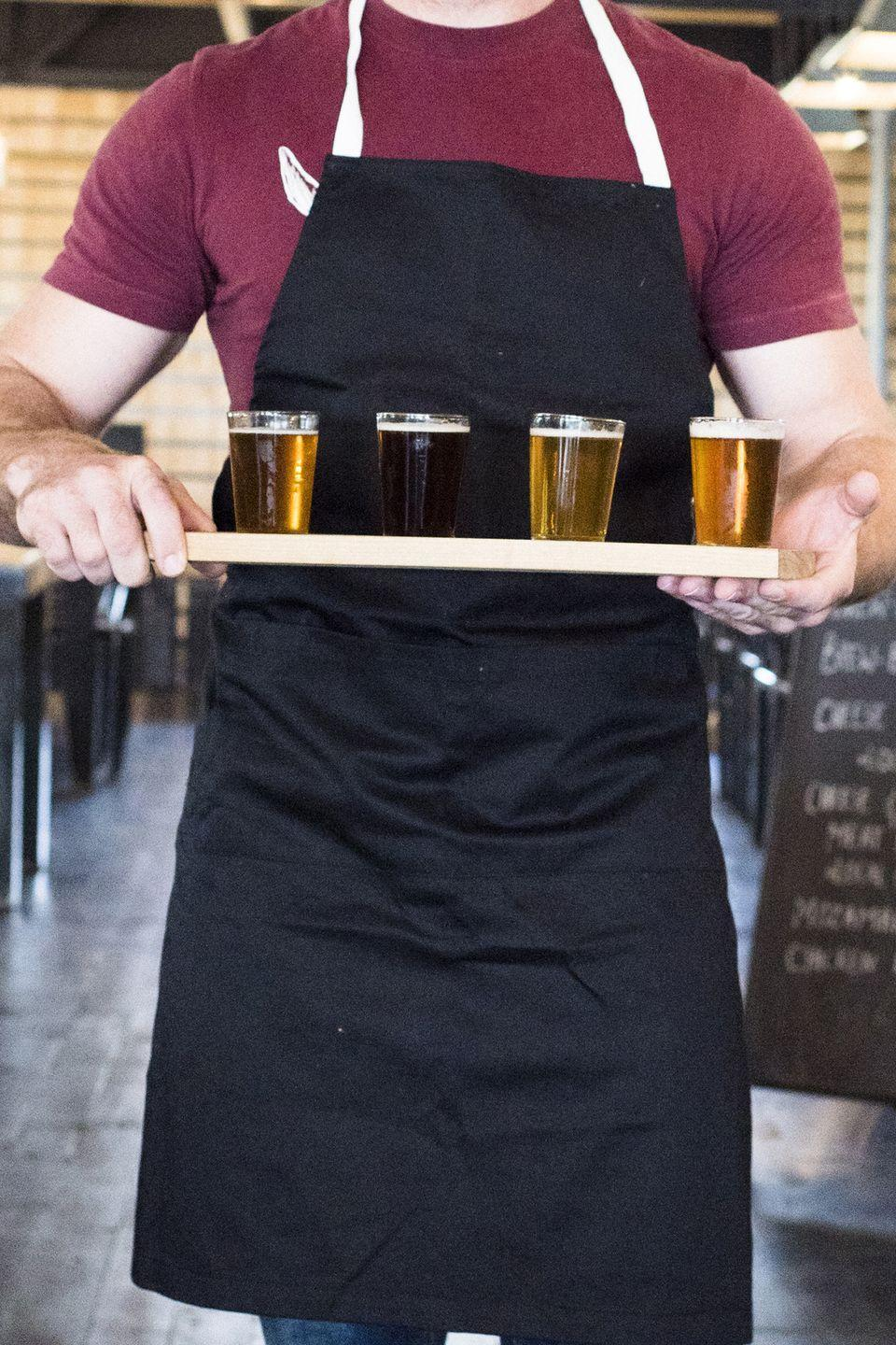 <p>Venture out to a local brewery or distillery to tour the grounds and learn more about your favorite craft beers or spirits, then finish up with a post-tour tasting.</p>