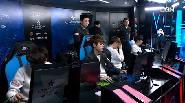 KT Rolster after their loss to MVP (Twitch/OnGameNet)