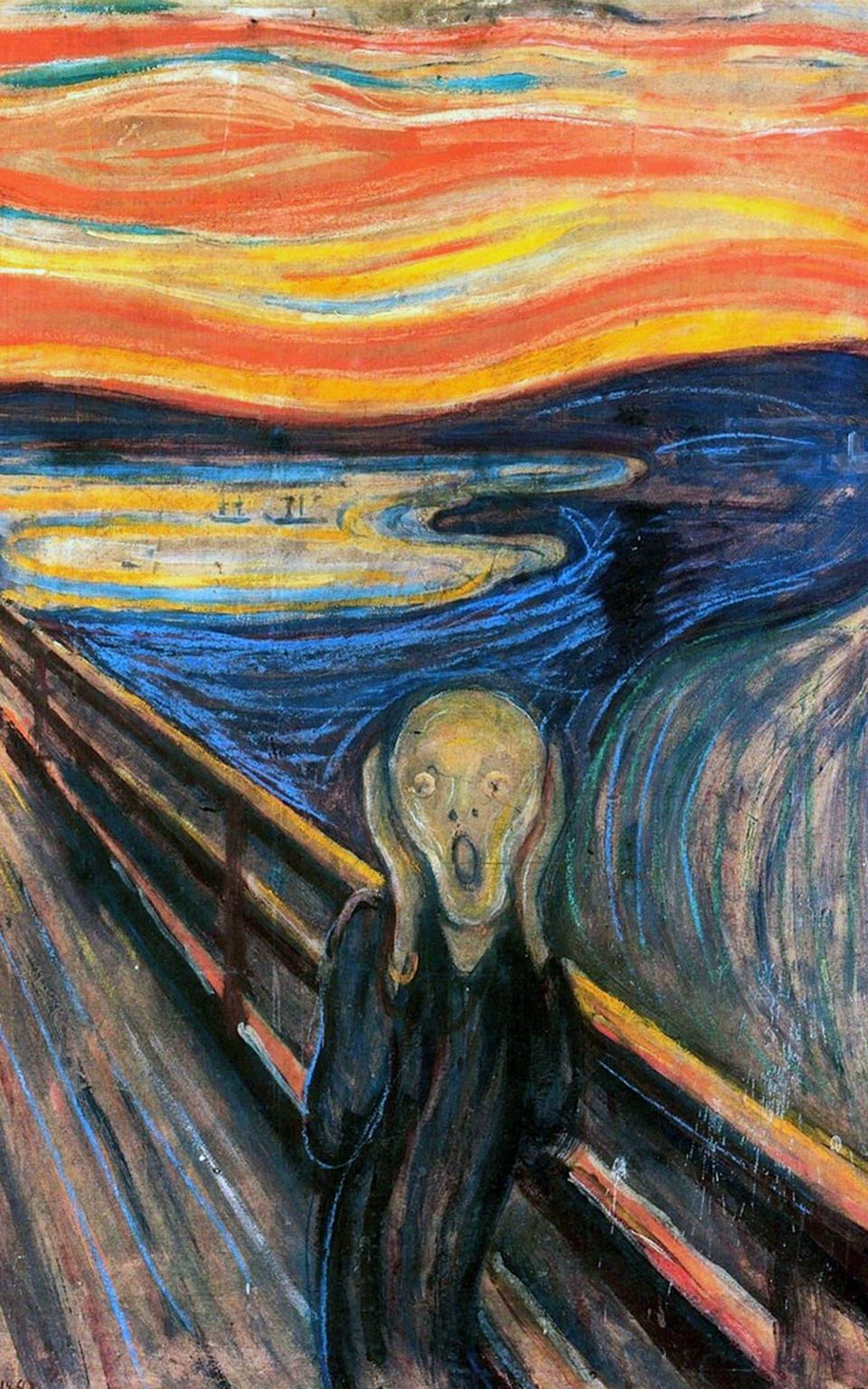 The earliest version of The Scream, plus 'graffiti', by Edvard Munch - Getty Images Contributor
