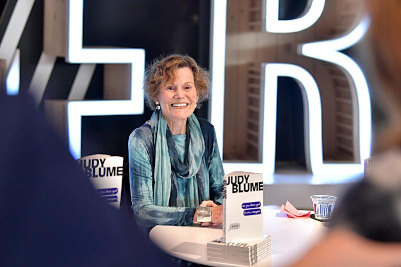 "Judy Blume talks about turning ""Are You There God? It's Me, Margaret"" into a film at The 2020 MAKERS Conference. (Photo by Emma McIntyre/Getty Images for MAKERS)"