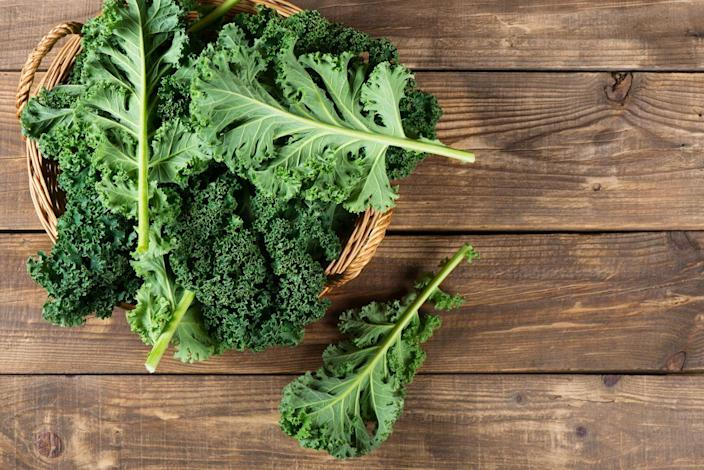 "<p>It's another cruciferous vegetable, so you know these hearty leaves have good stuff going for them from a cancer prevention perspective. A single cup of chopped kale serves up more than a day's worth of antioxidants like vitamins A and C, both of which can scrounge up free radicals and stop them from causing cell damage that could potentially lead to cancer.</p><p><strong>Try it: </strong><a href=""https://www.prevention.com/food-nutrition/recipes/a20472583/garlic-shrimp-and-kale-stir-fry/"" rel=""nofollow noopener"" target=""_blank"" data-ylk=""slk:Garlic Shrimp and Kale Stir-Fry"" class=""link rapid-noclick-resp"">Garlic Shrimp and Kale Stir-Fry</a></p>"