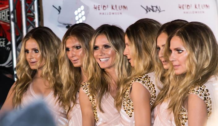 Heidi Klum (3rd L) is seen arriving at Heidi Klum's 17th Annual Halloween Party on October 31, 2016 in New York City. (Photo by Gilbert Carrasquillo/FilmMagic)