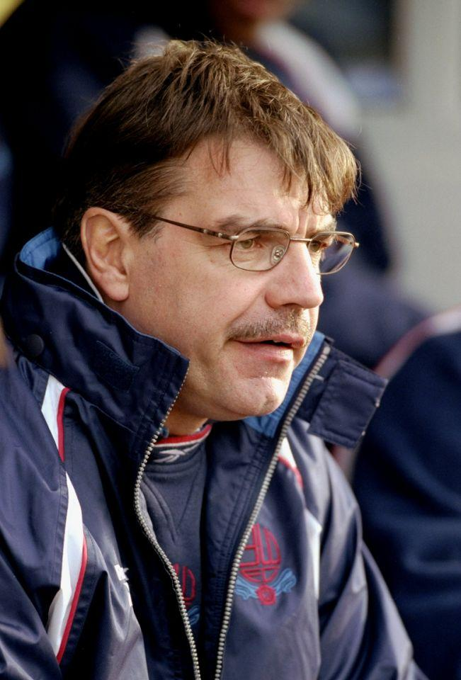 <p>2000: As Bolton boss, watching his side beat Camrbidge United 3-1 in the FA Cup </p>