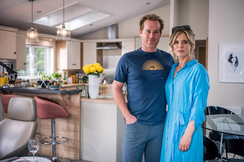 Neighbours: Adam James and Emila Fox star as The Dillons (BBC/James Stack)