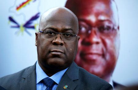 FILE PHOTO: Felix Tshisekedi, leader of Congolese main opposition party, the Union for Democracy and Social Progress (UDPS), attends a news conference in Nairobi, Kenya November 23, 2018. REUTERS/Baz Ratner/File Photo