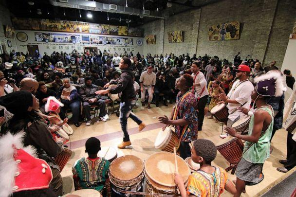 PHOTO: Community members and public attend the opening ceremony of the 29th Annual Kwanzaa Celebration at the Wisconsin Black Historical Society in Milwaukee, Wis., on Dec. 26, 2017. (Pat A. Robinson/ZUMAPRESS.com via Newscom, FILE)