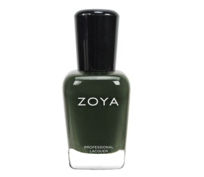 """<p><strong>ZOYA</strong></p><p>amazon.com</p><p><strong>$10.00</strong></p><p><a href=""""https://www.amazon.com/dp/B00E90VF60?tag=syn-yahoo-20&ascsubtag=%5Bartid%7C2141.g.37105652%5Bsrc%7Cyahoo-us"""" rel=""""nofollow noopener"""" target=""""_blank"""" data-ylk=""""slk:Shop Now"""" class=""""link rapid-noclick-resp"""">Shop Now</a></p><p>Perhaps unexpected but altogether fabulous, a dark green color will pop against <a href=""""https://www.prevention.com/beauty/g33502725/best-nail-colors-for-dark-skin/"""" rel=""""nofollow noopener"""" target=""""_blank"""" data-ylk=""""slk:any skin tone"""" class=""""link rapid-noclick-resp"""">any skin tone</a>. """"I think this year you'll even see a shade that was popular with flappers: olive green,"""" says Miss Pop. The lacquer features a deep-sea green color and is 10-free.</p>"""