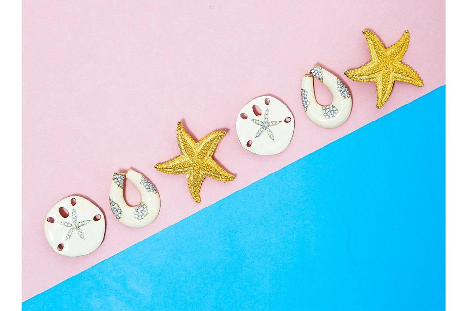 <p>Jackie Kennedy Onassis's favorite Starfish Clip earrings from the 1980s will be available, along with the 1960s Sand Dollar earrings and another 1980s classic, the Swarovski Resin Hoop Clips.</p>