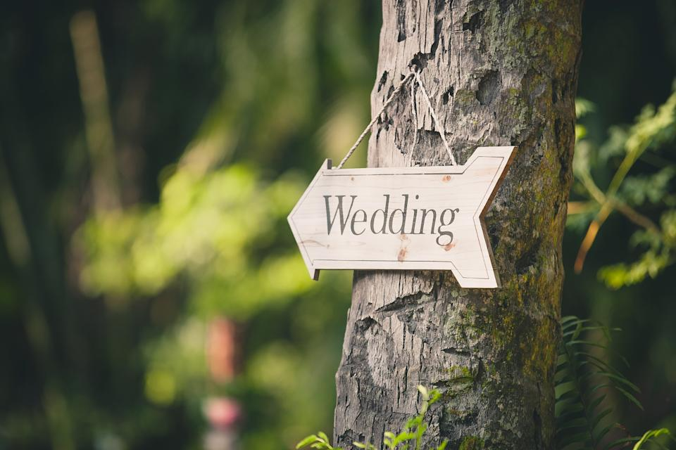 Wedding Sign On Tree