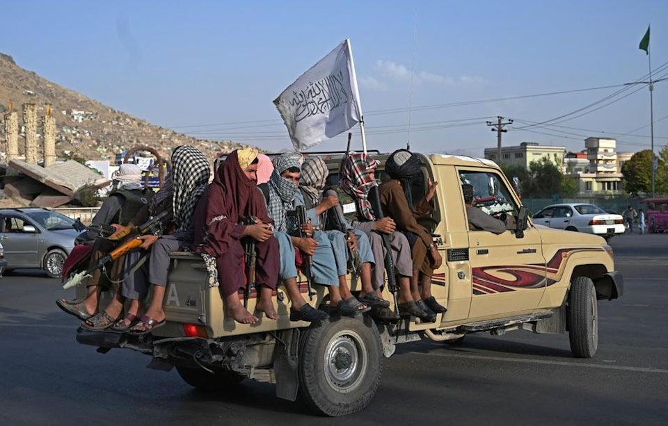 Taliban fighters on the streets of Kabul (AFP via Getty Images)