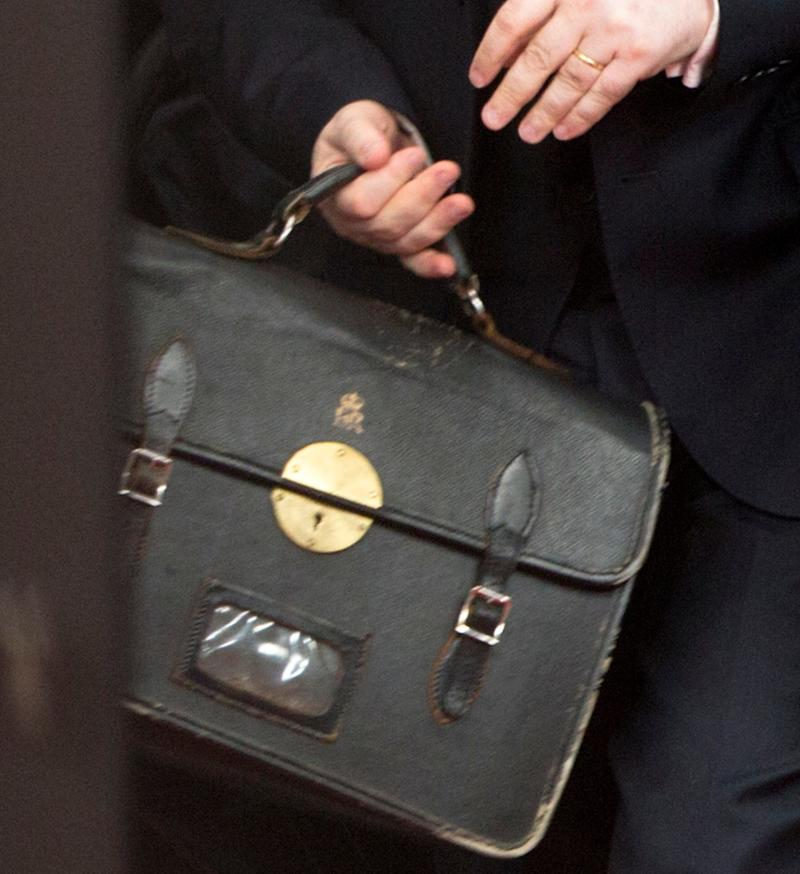 Tim Barrow's briefcase - Credit: AP/AP