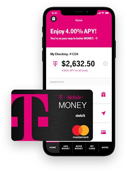 T-Mobile is jumping into the banking business with a checking account that offers no fees, no minimums and up to 4% in interest.