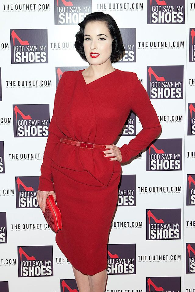 "Burlesque dancer Dita Von Teese turns 39. Dario Cantatore/<a href=""http://www.gettyimages.com/"" target=""new"">GettyImages.com</a> - September 7, 2011"