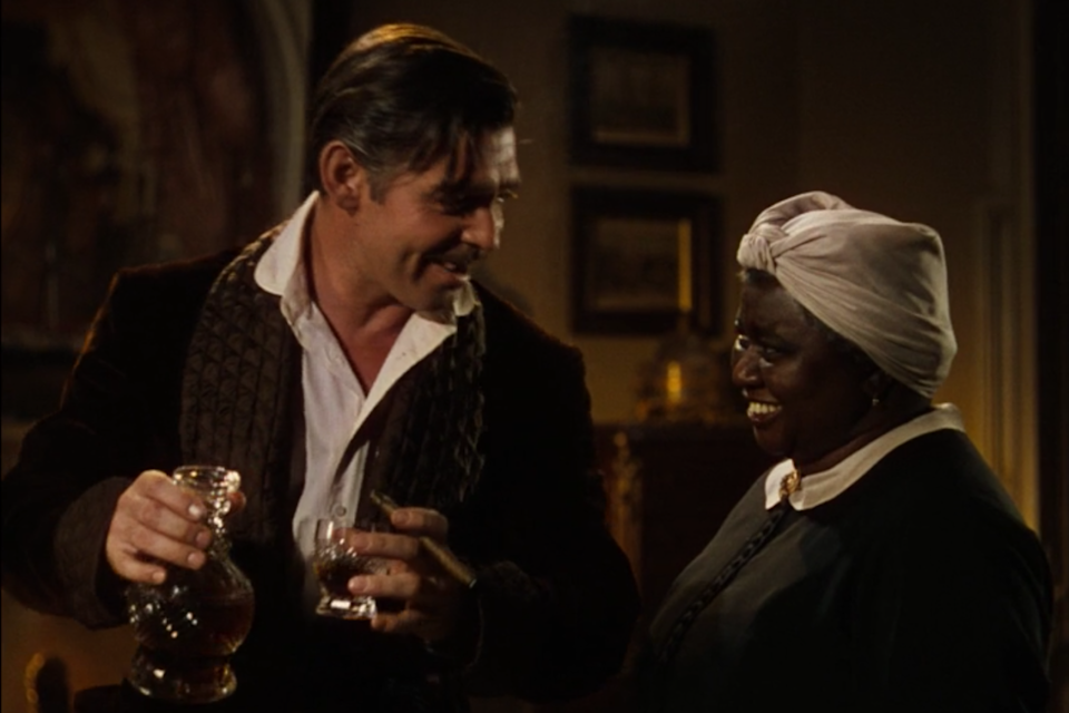"""<p>His favorite trick? Replacing <a rel=""""nofollow noopener"""" href=""""http://mentalfloss.com/article/20142/quick-10-10-facts-about-clark-gable"""" target=""""_blank"""" data-ylk=""""slk:fake cognac or tea with real cognac"""" class=""""link rapid-noclick-resp"""">fake cognac or tea with real cognac</a> without telling McDaniel - we'd love to see the blooper reel.</p>"""