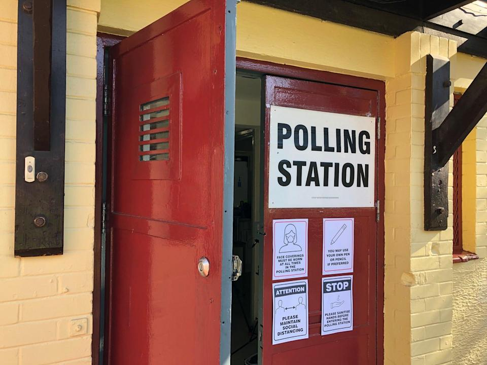 <p>London Elects set up set up a mock polling station to demonstrate how the new rules would apply</p> (Handout)