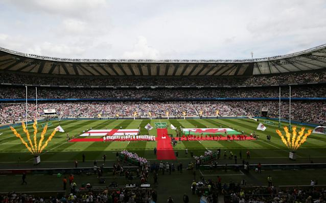 General view inside the stadium prior to the 2019 Quilter International match between England and Wales at Twickenham Stadium - - RFU