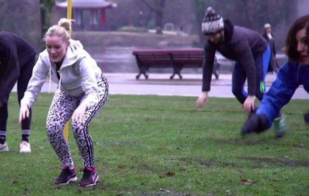 The latest trend sees exercise junkies incorporate canine moves into their workout. Photo: Youtube